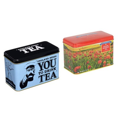 New English Teas VE Day Wartime Memories Bundle - 40 x Breakfast and 40 x Afternoon Teabags Tins