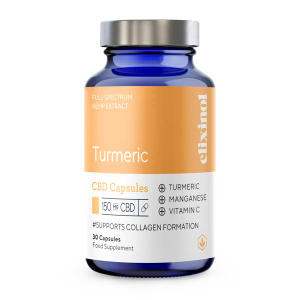 Elixinol Turmeric Blended CBD 30 Capsules No Colour