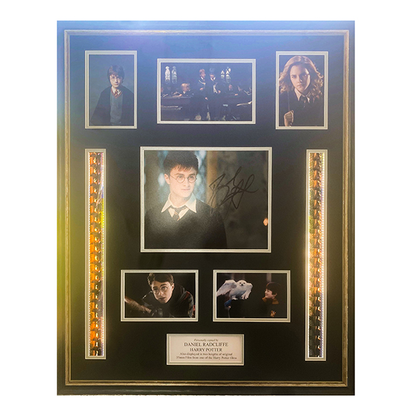 Daniel Radcliffe Harry Potter signed Filmcell Montage No Colour