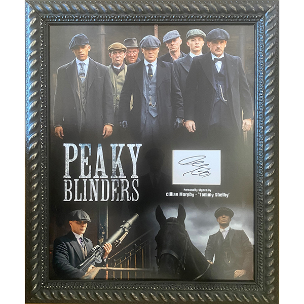 Cillian Murphy Peaky Blinders signed Photo Montage No Colour