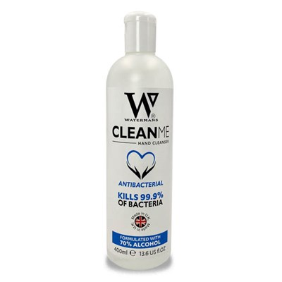Watermans Clean Me Hand Sanitiser (1  x 400ml)
