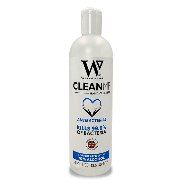 Watermans Clean Me Hand Sanitiser (1  x 400ml) No Colour