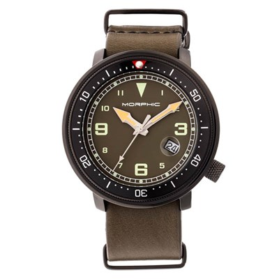 Morphic Gents M58 Series Watch on Leather Nato Strap