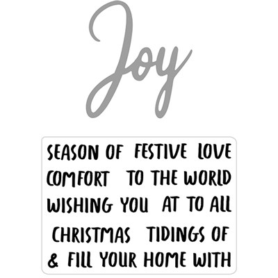 Hunkydory Moonstone Combos Festive Words Die and Stamps Set - Joy