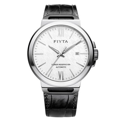Fiyta Gents Solo Automatic Watch with Black Genuine Leather Strap