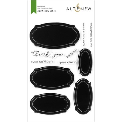 Altenew Apothecary Labels Stamp Set