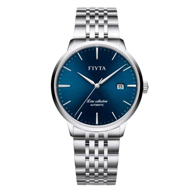 Fiyta Gents Line Automatic Date Watch with Stainless Steel Bracelet