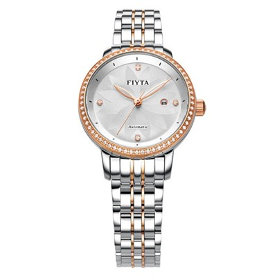 Fiyta Ladies Classic Automatic Watch on Stainless Steel Bracelet