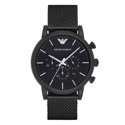 Emporio Armani Gents AR1968 Chronograph Watch with Milanese Bracelet