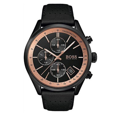 Hugo Boss Gents 1513550 Chronograph Date Watch with Genuine Leather Strap