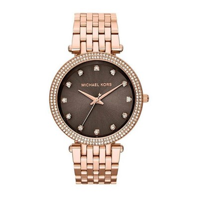 Michael Kors Ladies MK3217 Rose Gold Darci Watch with Stainless Steel Bracelet