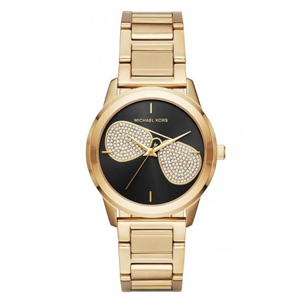 Michael Kors Ladies Hartman Watch with Stainless Steel Bracelet Gold