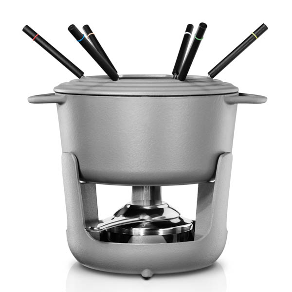 Villeroy and Boch CW0623 Cast Iron Fondue Set for Cheese, Meat, Chocolate and Broth with 6 Fondue Forks No Colour