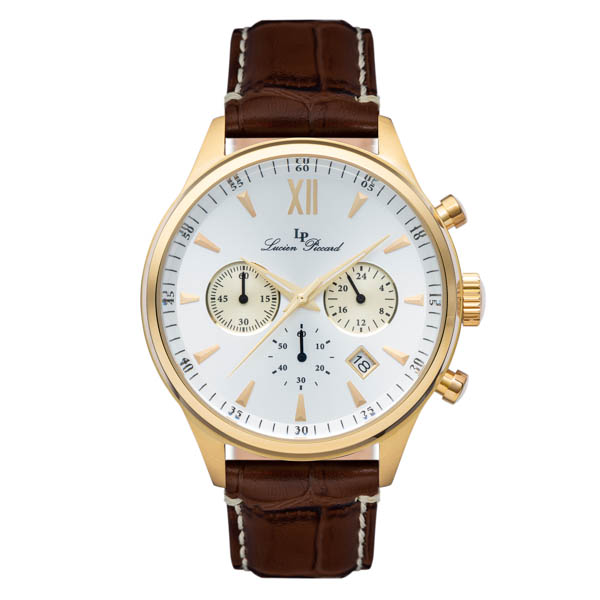 Image of Lucien Piccard Gent's Bogari Watch with Genuine Leather Strap