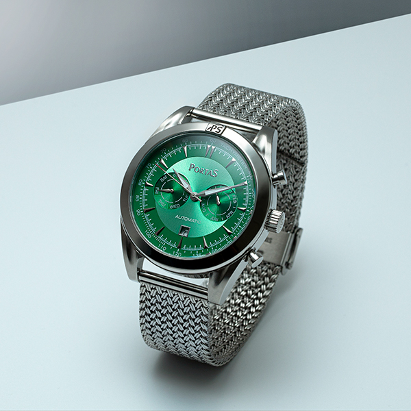 PortaS Gent's Annaberg Date Automatic Watch with Milanese Bracelet Green
