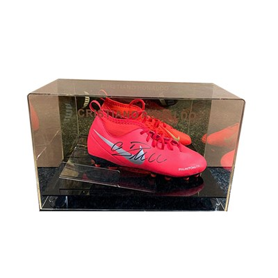 Cristiano Ronaldo Personally Signed Football Boot in Display Case