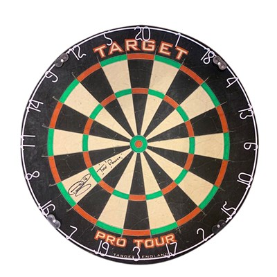 Phil Taylor Personally Signed Dartboard