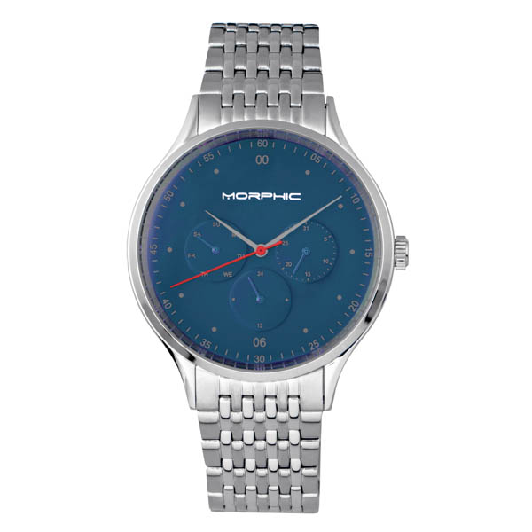Morphic Gents M65 Series Watch on Stainless Steel Bracelet Blue