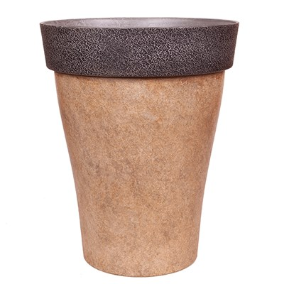 Diablo 43.5cm Tall Round Brown Planter