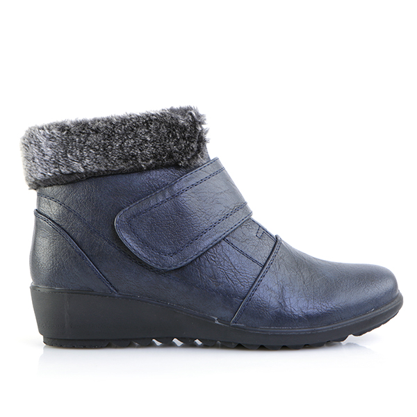Image of Cushion Walk Faux Fur Trim Ankle Boot