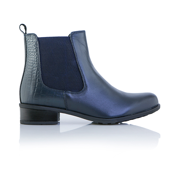 Leather Collection Carmen Chelsea Boots Navy