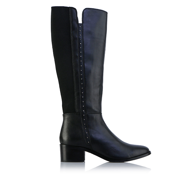 Leather Collection Remy Tall Boot Black