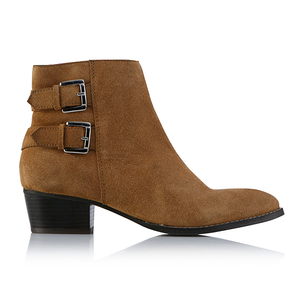 Leather Collection Steff Buckle Boots Tan