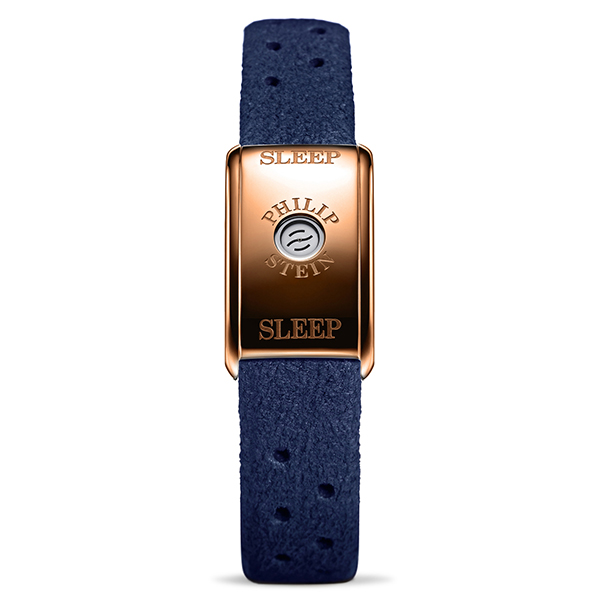 Philip Stein Classic Sleep Bracelet Rose Gold Case - Comes in Blue or Brown Sea Blue