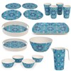 Cambridge Lightweight Reusable Tableware Set, Dinnerware Set, 4 Place Setting - St Tropez Print