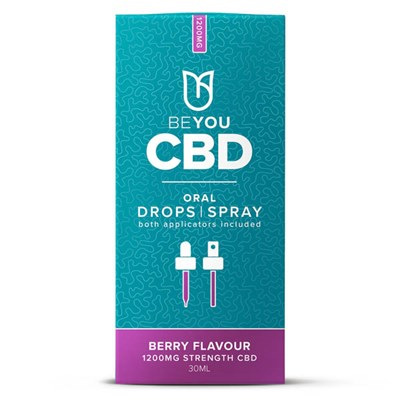 BeYou 1200mg CBD Oral Spray with MCT Oil - Berry - 30ml