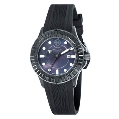 Ballast Ladies IP Vanguard Watch with Silicone Strap