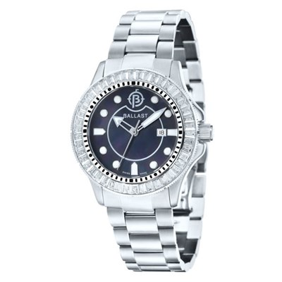 Ballast Ladies Vanguard MOP Watch with Stainless Steel Bracelet