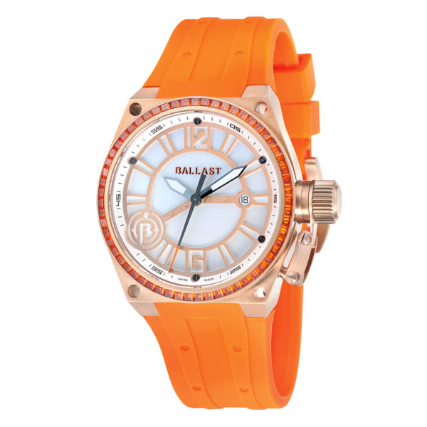 Ballast Ladies Valiant Watch with Silicone Strap Orange