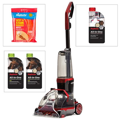 Rug Doctor Flex Carpet and Hardfloor Cleaner with Universal Solution, Pet Solution, Spot and Stain Wipes