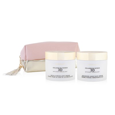 Elizabeth Grant Supersize Collagen 3D 24hr Face Cream 200ml and Neck & Dec Cream 200ml & Bag