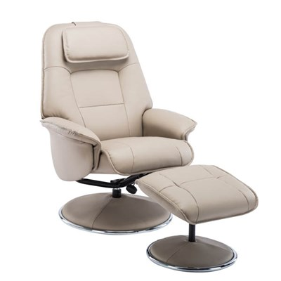 Avant Garde Swivel Recliner and Foot Stool