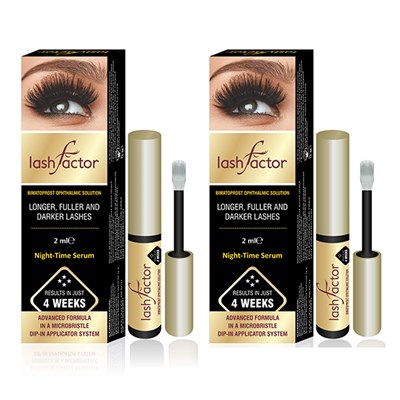 Lashfactor Eyelash Rapid Growth Solution - Twin Pack
