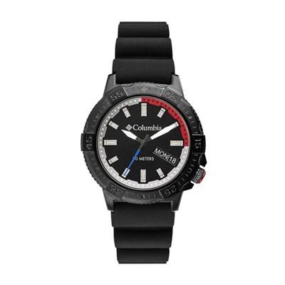 Columbia Gent's Peak Patrol IP Day Date Watch with Silicone Strap