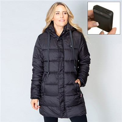 ThermoFusion Heated Longline Parka with 5000mAh Battery Pack
