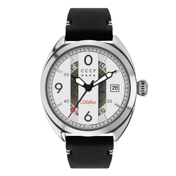 Image of CCCP Gents Aviator Yak-15 Automatic Watch with Genuine Leather Strap