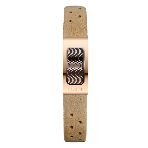 Philip Stein Slim Sleep Bracelet with Rose Gold Case - Comes in Beige, Blue and Purple Beige