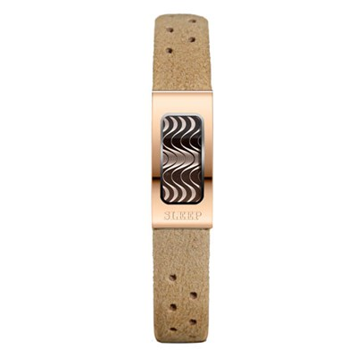 Philip Stein Slim Sleep Bracelet with Rose Gold Case - Comes in Beige, Blue and Purple