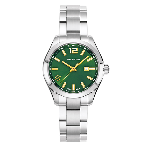 Philip Stein Traveler Watch Collection Ladies 36mm - Green or Blue Dial Green