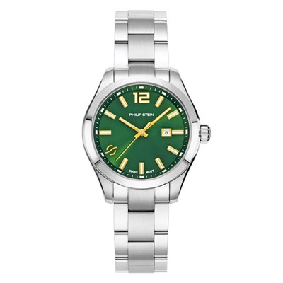 Philip Stein Traveler Watch Collection Ladies 36mm - Green or Blue Dial