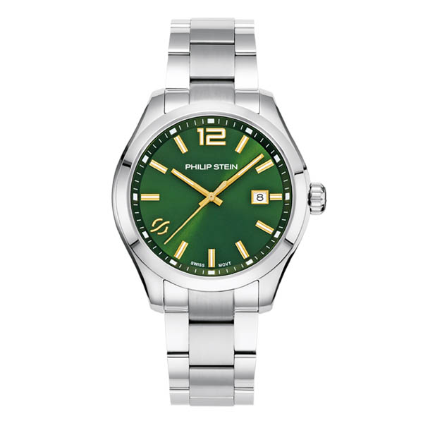 Philip Stein Men's Traveler 42mm Watch - Comes in Blue or Green Dial Green