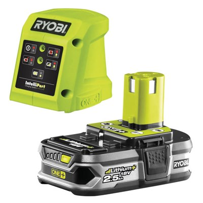 Ryobi 18v One+ 2.5Ah Battery and Charger