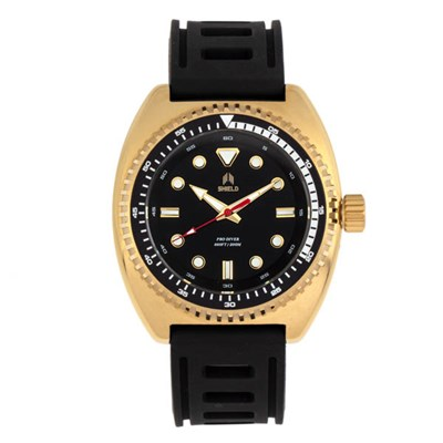 Shield Gents Dreyer Divers Watch with Silicone Strap