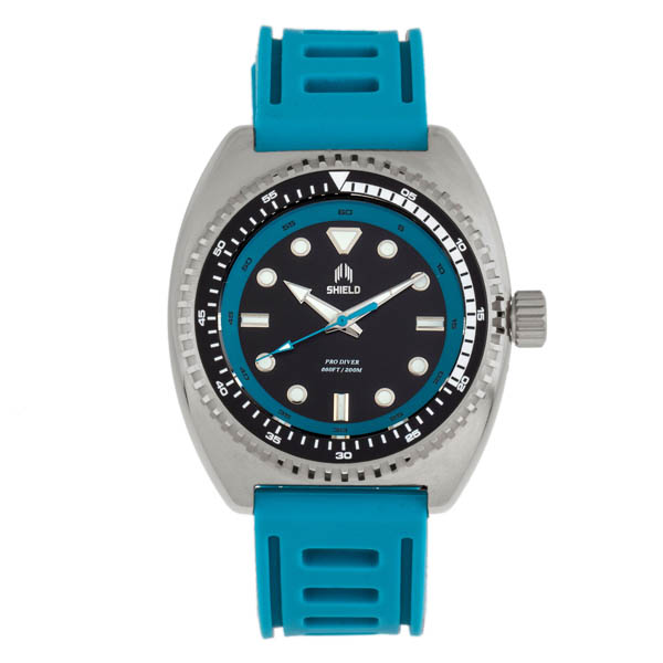 Shield Gents Dreyer Divers Watch with Silicone Strap Blue