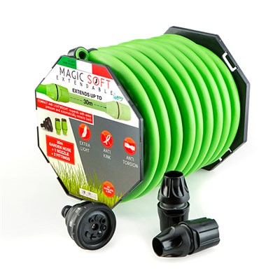 Magic Hose 30m with Nozzle and Fittings