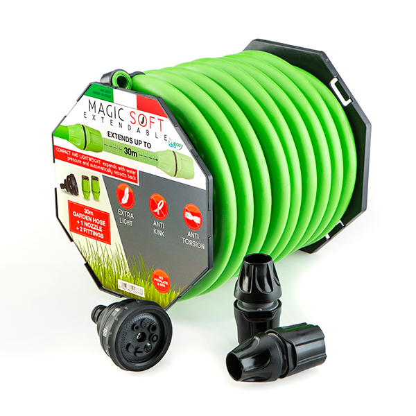 Magic Hose 30m with Nozzle and Fittings No Colour